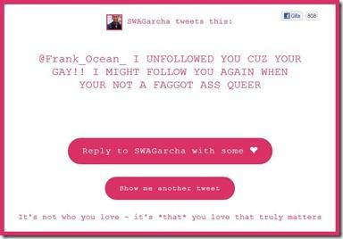 Hatte Tweets to Frank Ocean